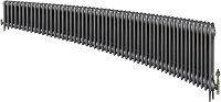 Eastgate Victoriana 3 Column 53 Section Cast Iron Radiator 450mm High x 3225mm Wide - Metallic Finish